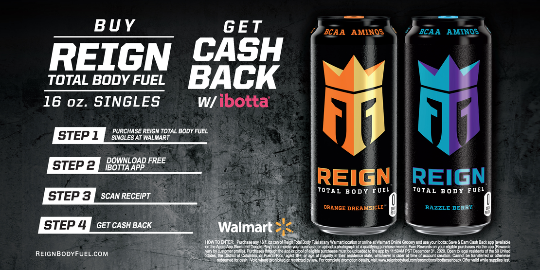 REIGN TOTAL BODY FUEL SINGLES IBOTTA PROMOTION