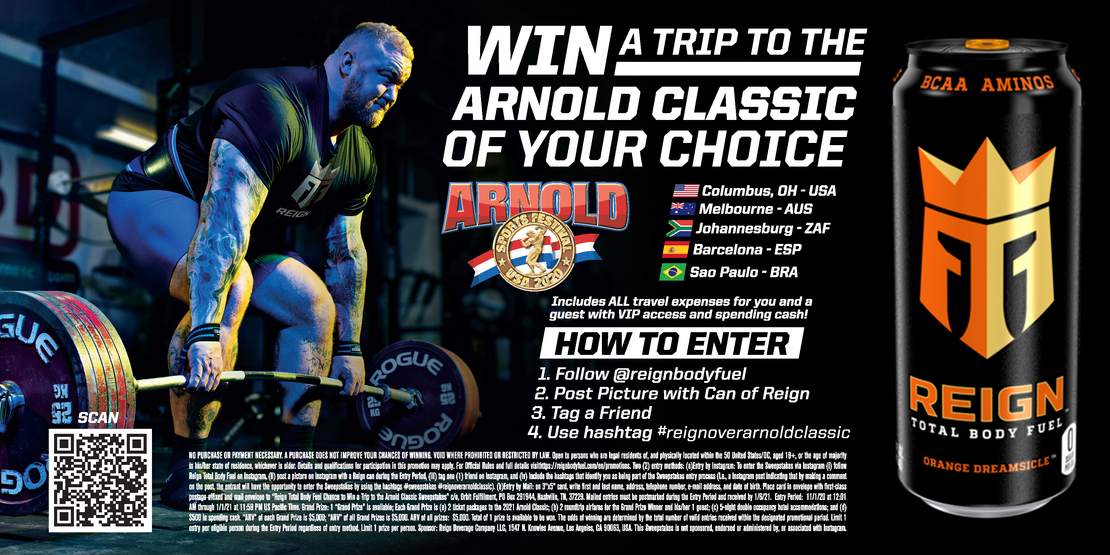 WIN A TRIP TO THE ARNOLD CLASSIC OF YOUR CHOICE